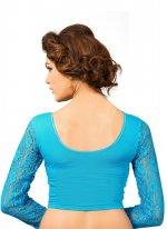 Cotton Plain Designer Blouse in Blue