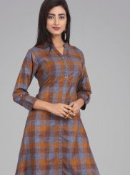 Cotton Plain Multi Colour Casual Kurti