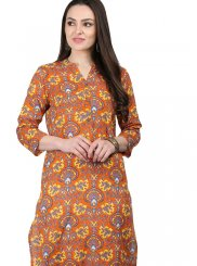 Cotton Print Multi Colour Casual Kurti