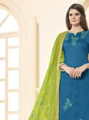 Cotton Salwar Kameez in Blue