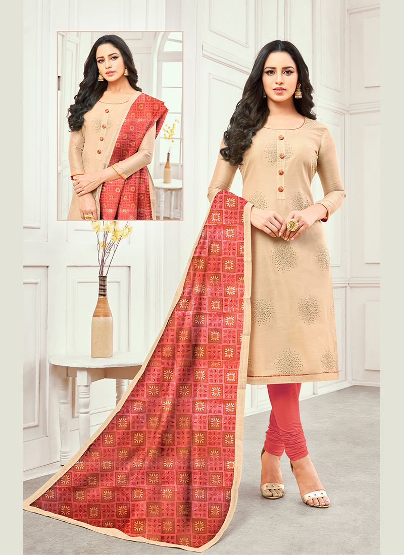 Cotton Satin Ceremonial Designer Salwar Kameez