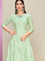 Cotton Satin Party Casual Kurti
