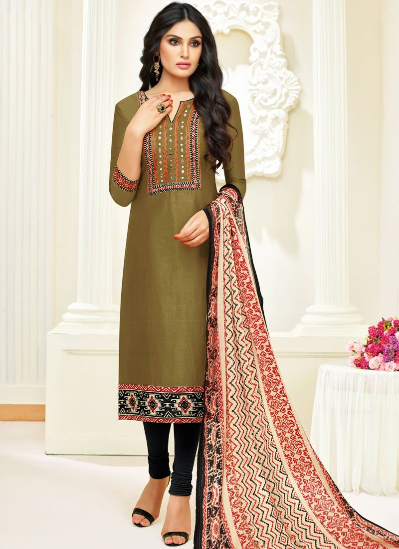 Cotton Sea Green Churidar Salwar Kameez