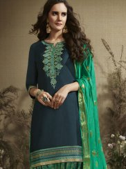 Cotton Silk Designer Patiala Suit