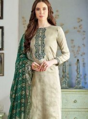 Cotton Silk Embroidered Pakistani Salwar Suit