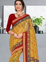 Cotton Silk Festival Printed Saree