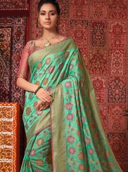 Cotton Silk Festival Traditional Designer Saree