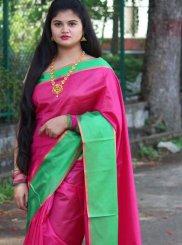 Cotton Silk Mehndi Classic Saree