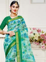 Cotton Silk Multi Colour Abstract Print Traditional Saree