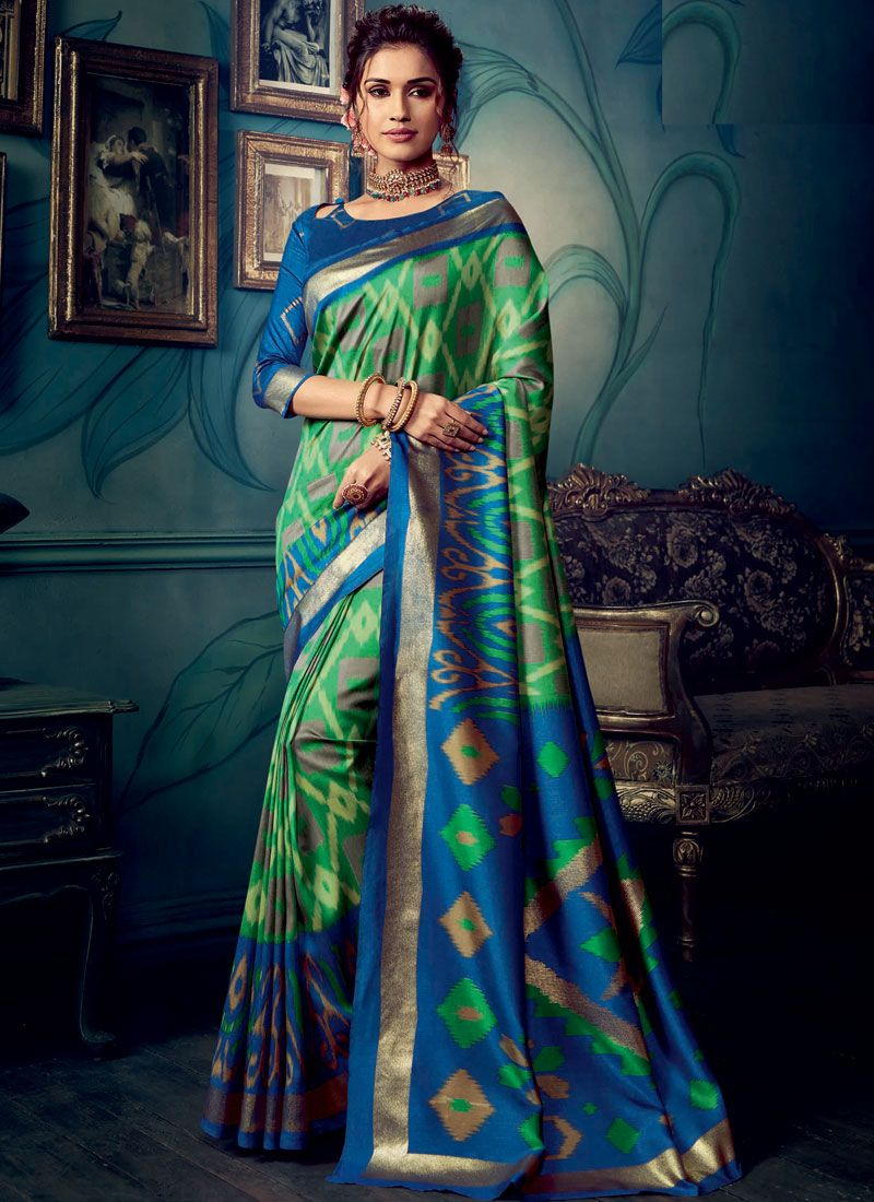 Cotton Silk Multi Colour Weaving Designer Traditional Saree