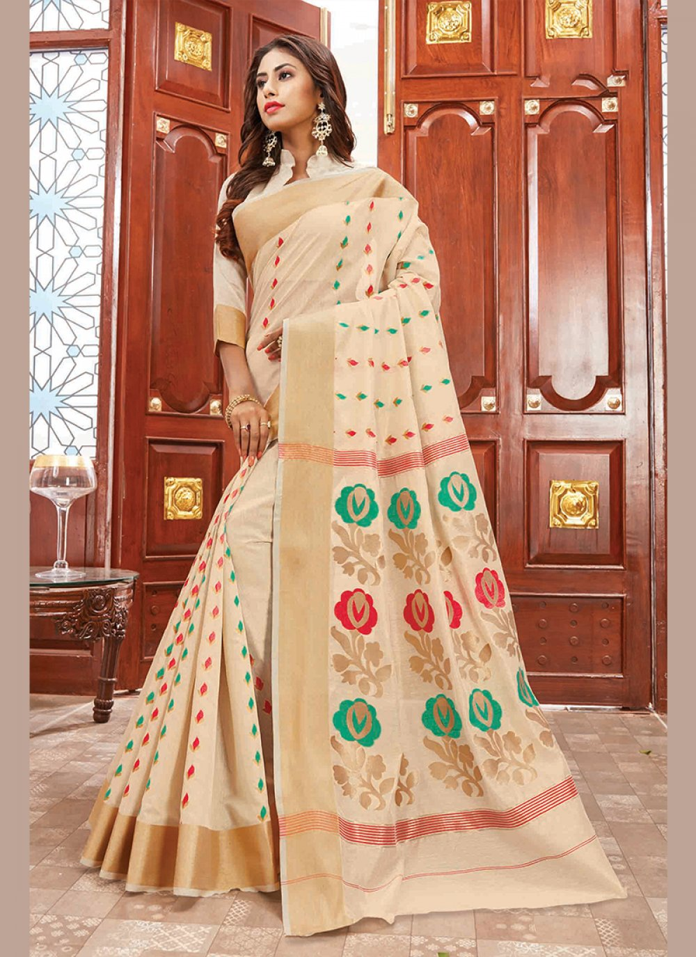 Cotton Silk Party Designer Traditional Saree