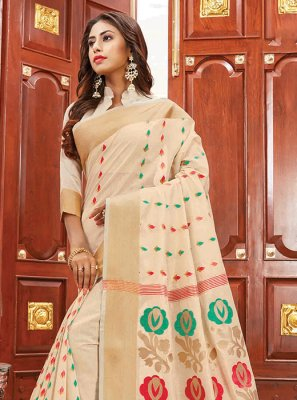 Cotton Silk Party Designer Traditional Saree