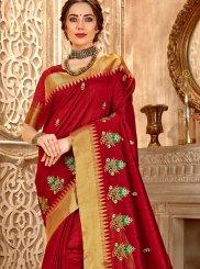 Cotton Silk Traditional Saree in Maroon