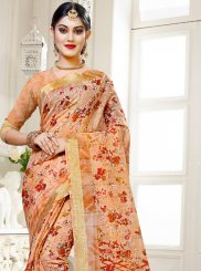 Cotton Silk Traditional Saree in Multi Colour