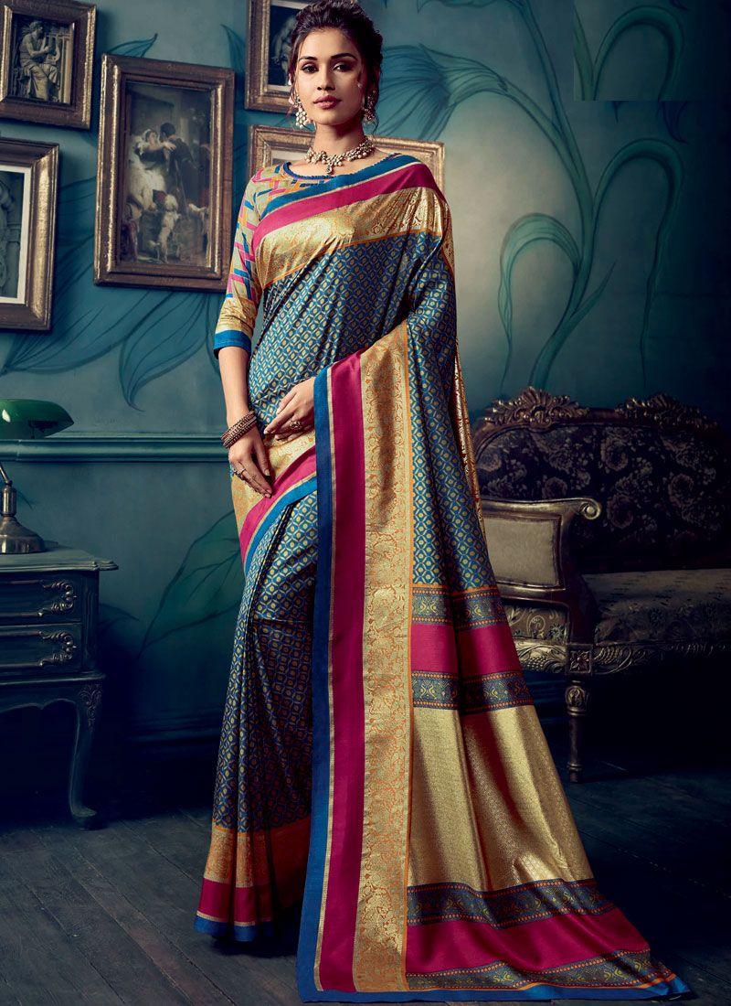 Cotton Silk Weaving Traditional Designer Saree in Multi Colour