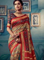 Cotton Silk Weaving Traditional Saree in Multi Colour