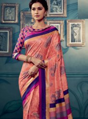 Cotton Silk Weaving Traditional Saree in Pink
