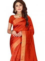 Cotton Silk Woven Red Trendy Saree