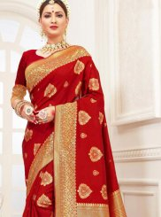 Cotton Silk Woven Silk Saree