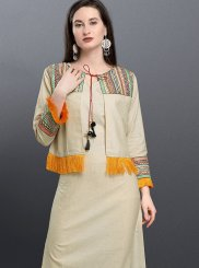 Cotton Thread Work Designer Kurti