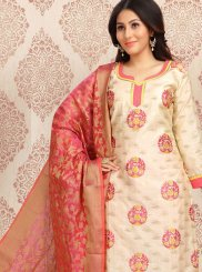 Cream Color Churidar Designer Suit