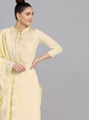 Cream Color Readymade Suit