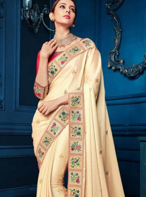 Cream Color Saree