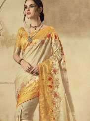 Cream Color Traditional Designer Saree