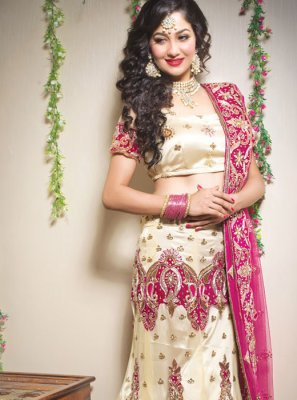 Cream Color Trendy Lehenga Choli