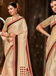 Cream Designer Saree