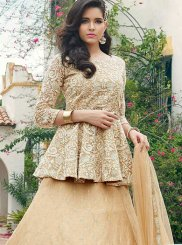 Cream Embroidered Readymade Lehenga Choli