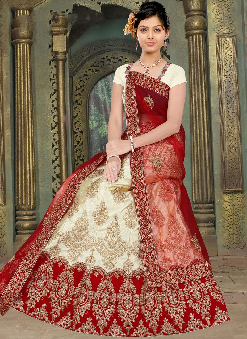 Cream Festival Trendy Lehenga Choli