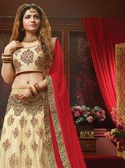 Cream Resham Bridal Lehenga Choli