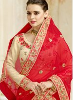 Cream Wedding Lehenga Choli