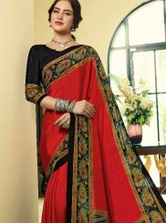 Crepe Silk Abstract Print Printed Saree