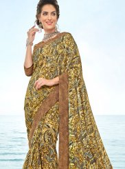 Crepe Silk Abstract Print Traditional Saree