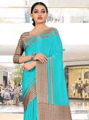 Crepe Silk Blue Trendy Saree