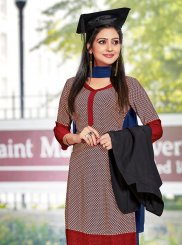 Crepe Silk Casual Churidar Suit