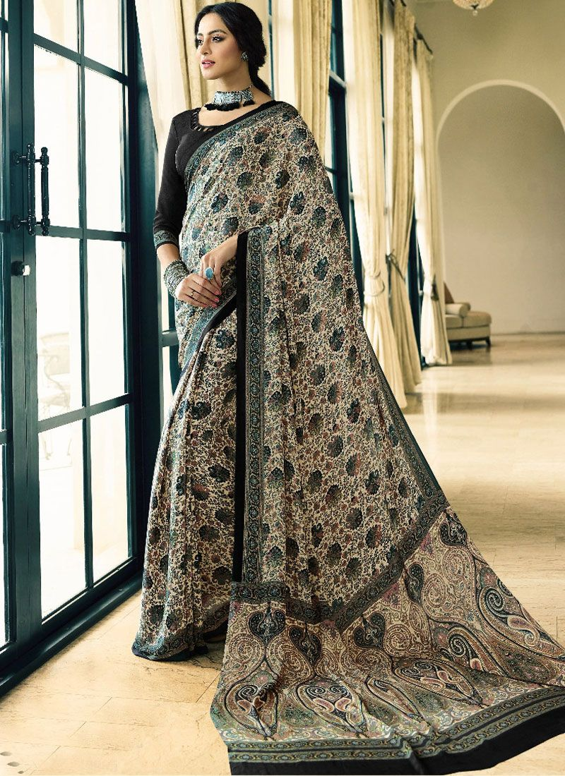 Crepe Silk Casual Printed Saree