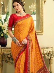 Crepe Silk Multi Colour Abstract Print Printed Saree