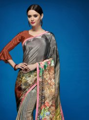 Crepe Silk Multi Colour Casual Saree