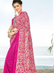Crepe Silk Multi Colour Half N Half  Saree