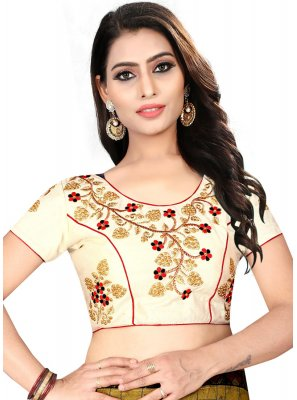 Decorative Cream Color Readymade Designer Blouse