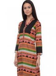 Designer Kurti Plain Rayon in Multi Colour