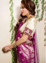 Designer Lehenga Choli Zari Net in Cream