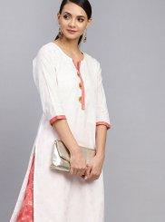 Designer Palazzo Salwar Suit Foil print Cotton in White