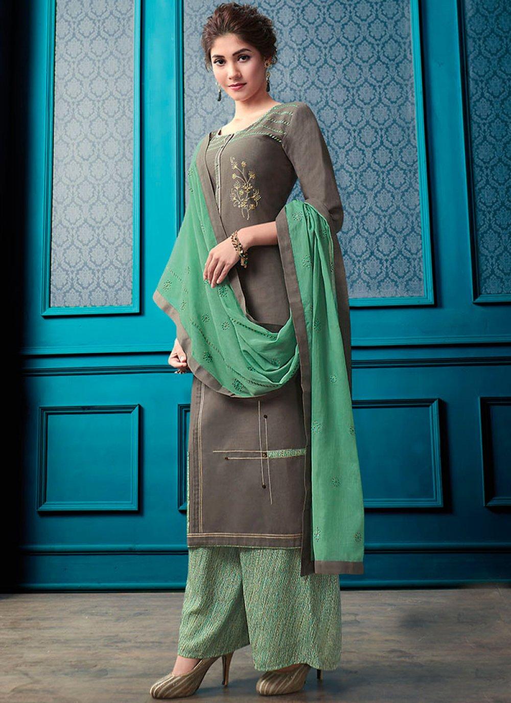 Designer Palazzo Salwar Suit For Ceremonial