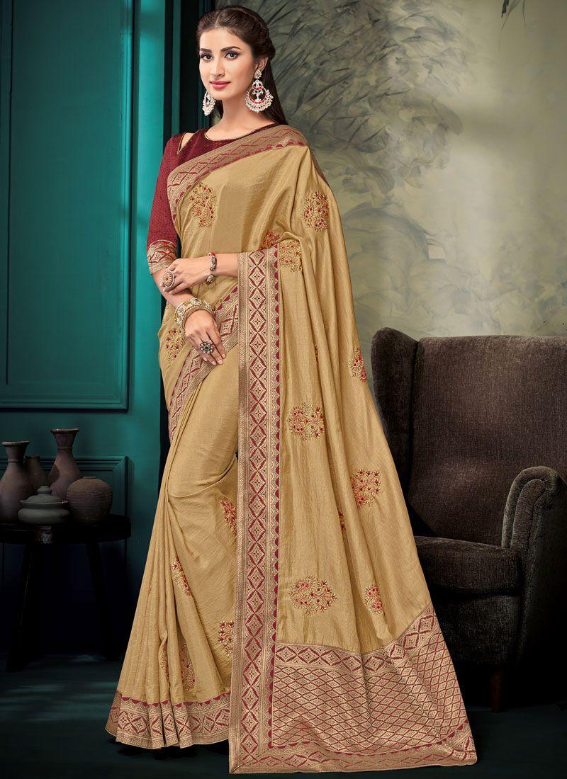 Designer Saree For Mehndi