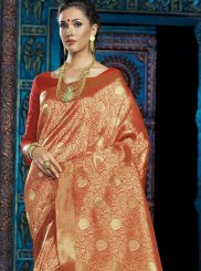 Designer Saree Weaving Art Silk in Mustard
