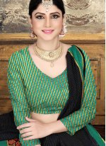 Designer Saree Woven Cotton in Black
